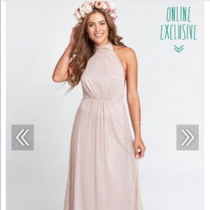 SHOW ME YOUR MUMU- Collette Mauve Glitter Dress